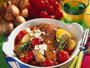 Griechische Hähnchenpfanne Rezept