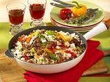 Griechische Reispfanne mit Hack Rezept