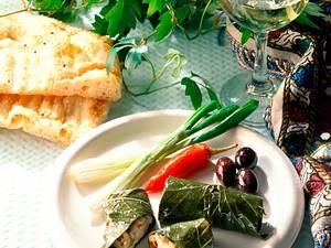 Griechische Weinblätter  Rezept