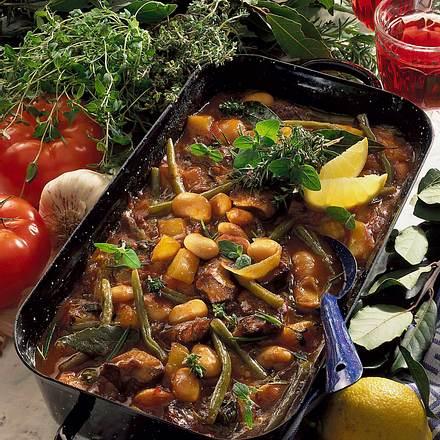 Griechischer Bohnen-Lamm-Topf Rezept