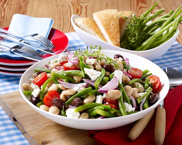 griechischer bohnen salat rezept chefkoch rezepte auf kochen backen und schnelle. Black Bedroom Furniture Sets. Home Design Ideas