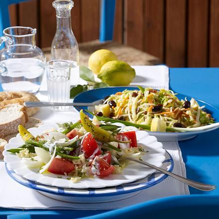 griechischer krautsalat mit gyros hack