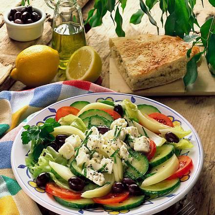 authentischer griechischer salat rezepte suchen. Black Bedroom Furniture Sets. Home Design Ideas