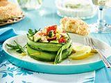 Griechischer Salat im Gurkenring Rezept