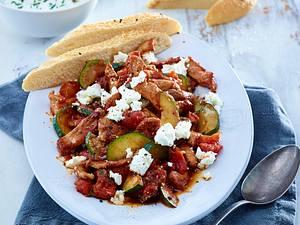 Griechisches Geschnetzeltes mit Feta Rezept