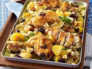 Griechisches Huhn vom Blech Rezept