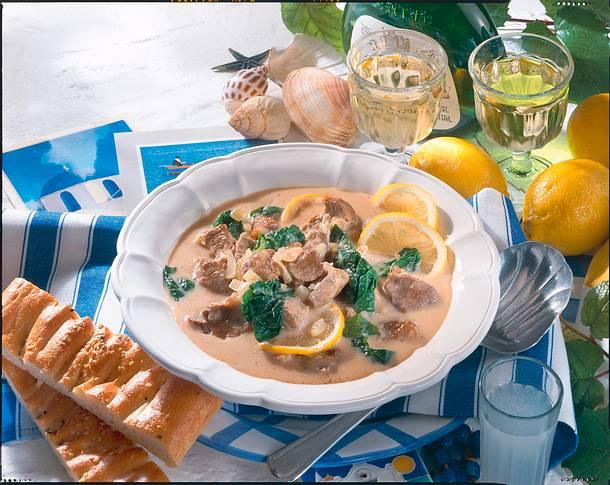 Griechisches Zitronen-Lamm-Ragout Rezept