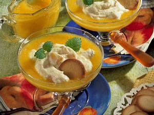 Grießcreme auf Pfirsich Rezept