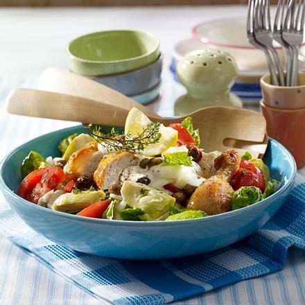 Grillhähnchen-Salat mit Blitz-Aioli Rezept