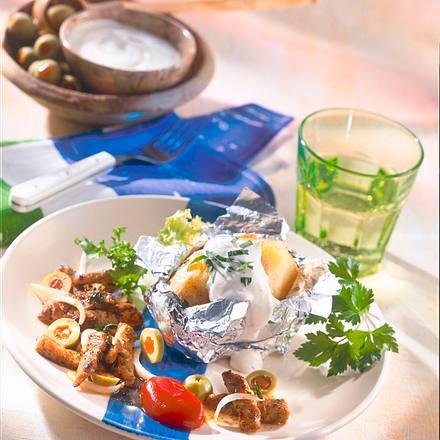 Grillkartoffel mit Gyros Rezept