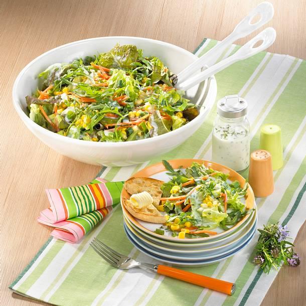 Großer grüner Salat Rezept