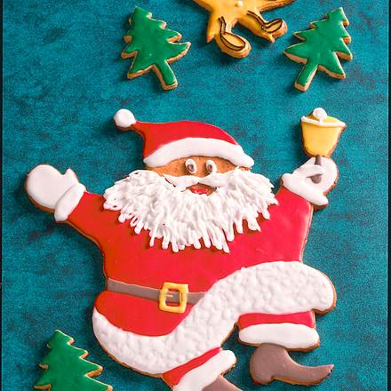 Großer Weihnachtsmann-Keks Rezept