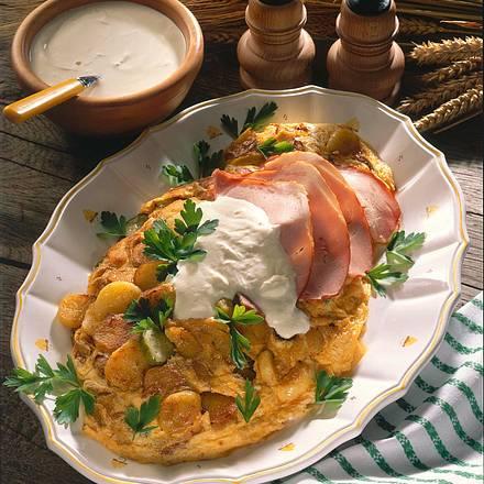 Großes Kartoffelomelett Rezept