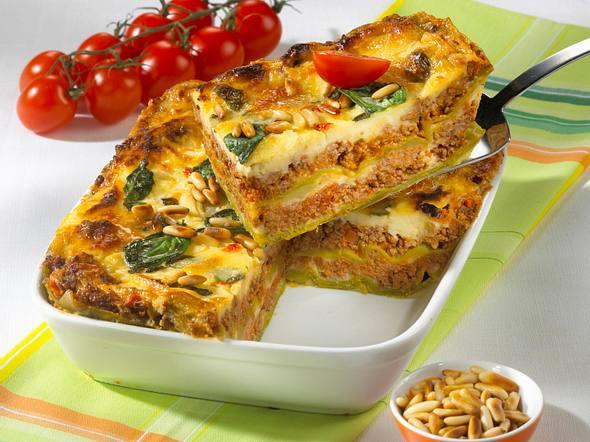 Grün-Weiß-Rot-Lasagne Rezept