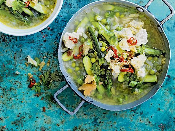 Grüne Frühlingssuppe Rezept