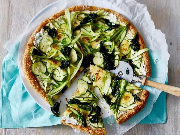 Grüne Quinoa-Pizza Rezept