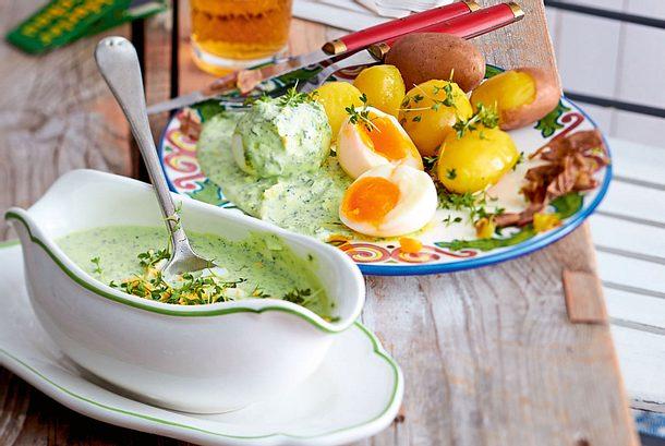 Grüne Soße mit Pellkartoffeln und Eiern Rezept