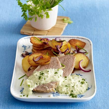 Grüne Soße mit Tafelspitz und Bratkartoffeln Rezept