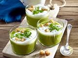 Grüne Spargelcremesuppe mit Milchschaum Rezept