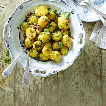 Grüner Kartoffelsalat mit Speck Rezept