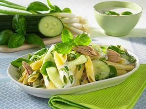 Grüner Nudelsalat mit Thunfisch Rezept