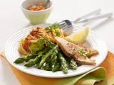 Grüner Spargel mit Spaghetti und Lachs Rezept