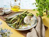 Grüner Spargel-Salat mit Burrata Rezept