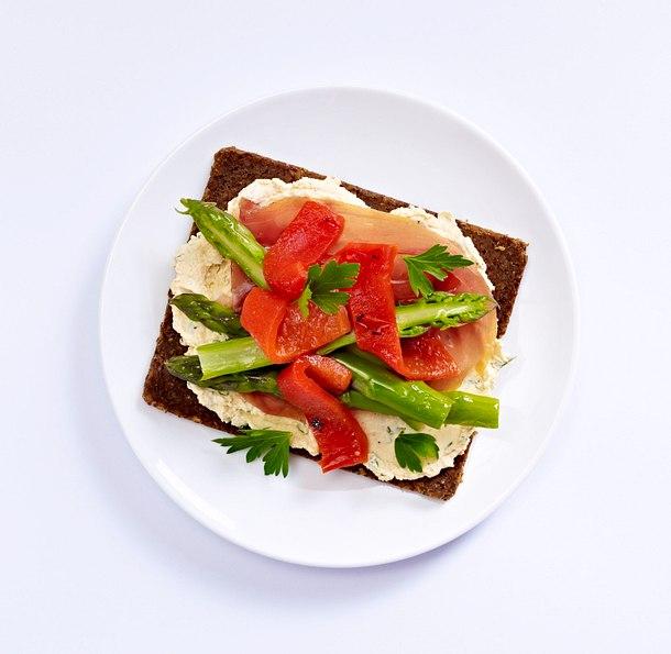 Grüner Spargel-Sandwich mit Schinken Rezept