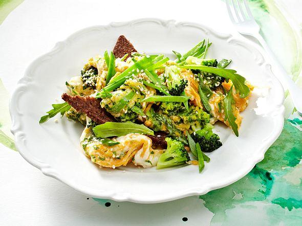 Grünes Gemüse-Rührei Rezept