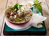 Grünes Muschelcurry mit Wildreismischung und Macadamianüssen Rezept
