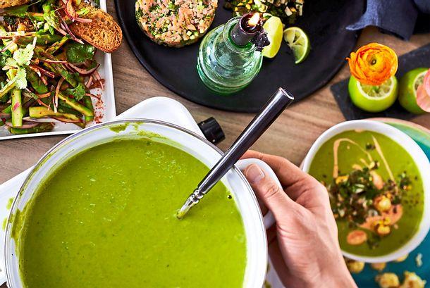 Grünes Spagelsüppchen Rezept