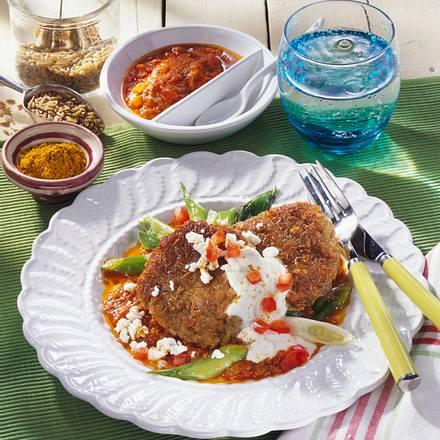 Grünkern-Rösti in Roter Curry-Soße Rezept