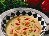 Grünkernsuppe mit Gemüse und Tofuwürfel Rezept