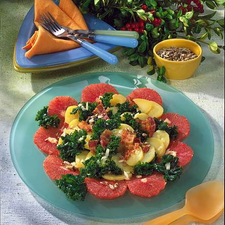 gr nkohl grapefruit salat rezept chefkoch rezepte auf kochen backen und schnelle. Black Bedroom Furniture Sets. Home Design Ideas