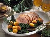 Grünkohl mit gerösteten Kartoffeln und Kasseler-Braten Rezept