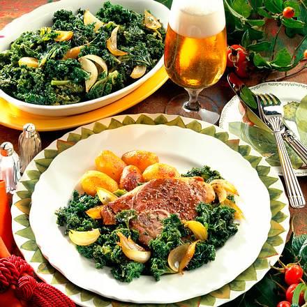 Grünkohl mit Lamm und Kartoffeln Rezept