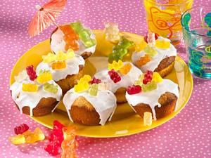 Gummibärchen-Muffins mit Hermannteig Rezept