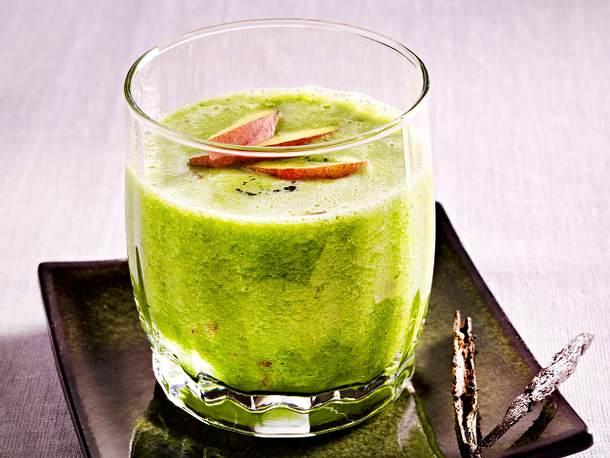 Gurke-Mangold-Pfirsich-Smoothie Rezept