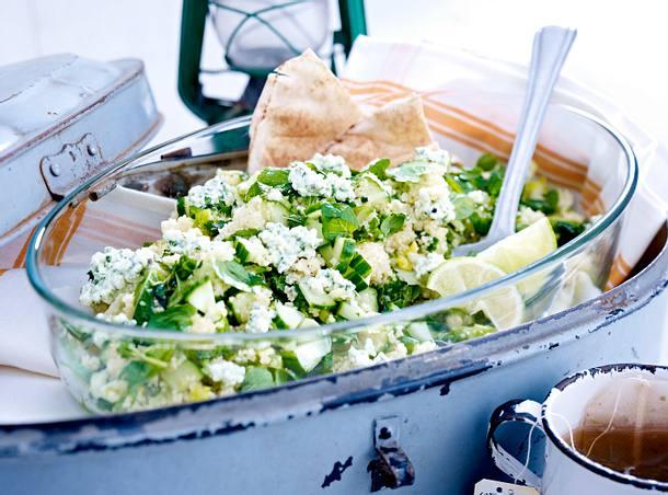 gurken couscous salat mit minz frischk se rezept. Black Bedroom Furniture Sets. Home Design Ideas