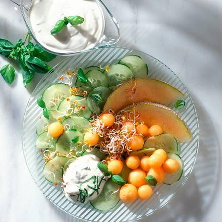 Gurken-Melonensalat Rezept