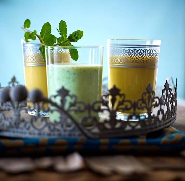 Gurken- und Mangolassi Rezept