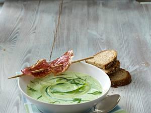 Gurkenkaltschale mit Tiroler Speck Rezept