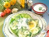 Gurkensalat mit Dillsoße Rezept