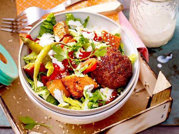 """""""Gut durch den Nachmittag""""-Süßkartoffelsalat Rezept"""