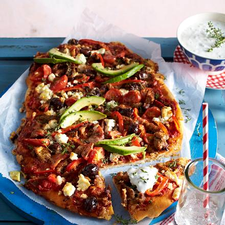 Gyros-Pizza Rezept