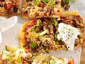 Gyros-Pizza mit Tsatsiki Rezept