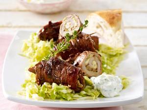 Gyros-Röllchen mit Spitzkrautsalat Rezept
