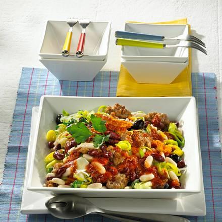 Hack-Bohnen-Salat Rezept