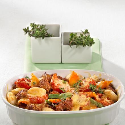 Hack-Gemüse-Auflauf Rezept