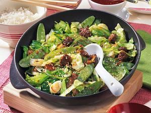 """Hack-Gemüse-Pfanne """"Asiatische Art"""" Rezept"""